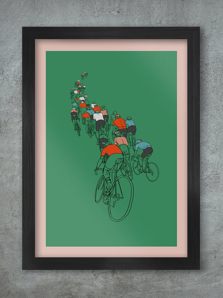 The Peloton - Cycling Poster Print