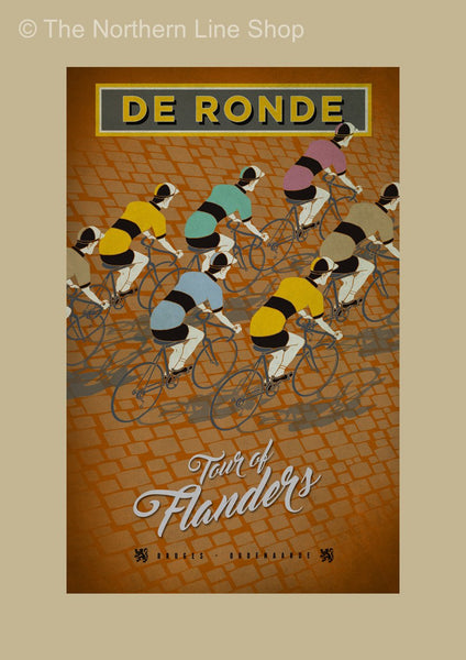 Tour of Flanders Cycling Poster Posters The Northern Line