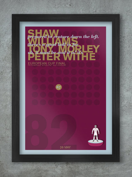 Aston Villa 1982 European Cup Final - Football Poster print