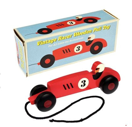 Vintage Style Pull Along racing Car Baby The Northern Line