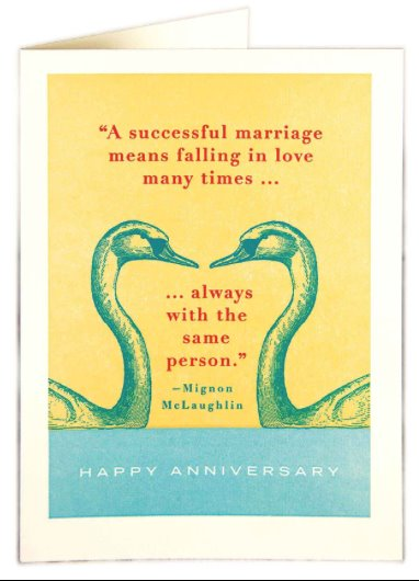 Wedding Anniversary Card card The Northern Line