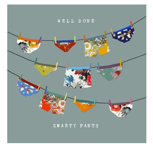 Well Done Smarty Pants - Blank Greeting Card card The Northern Line