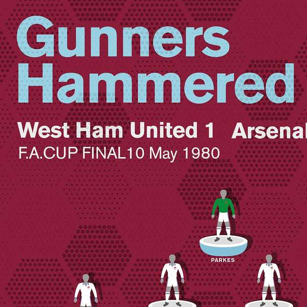West Ham 1980 FA Cup Final Football Poster Print