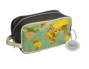 World Map Washbag