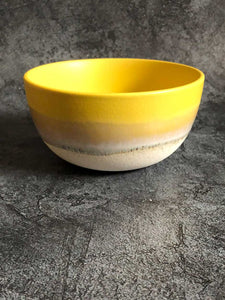 yellow dipped glaze bowl