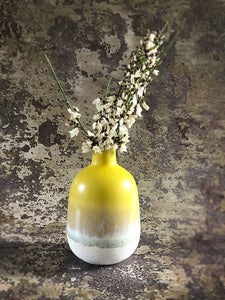 yellow bud vase