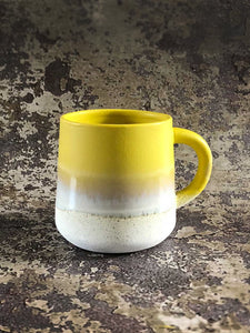 yello dipped glaze mug