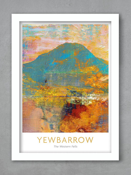 Yewbarrow Lake District Poster