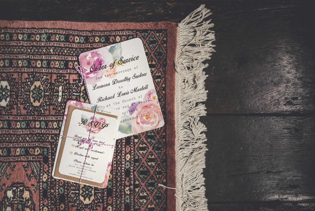 Summer Bloom Wedding Invitation & RSVP