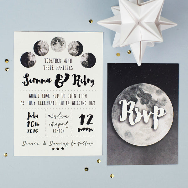 Lunar Wedding Invitation & RSVP