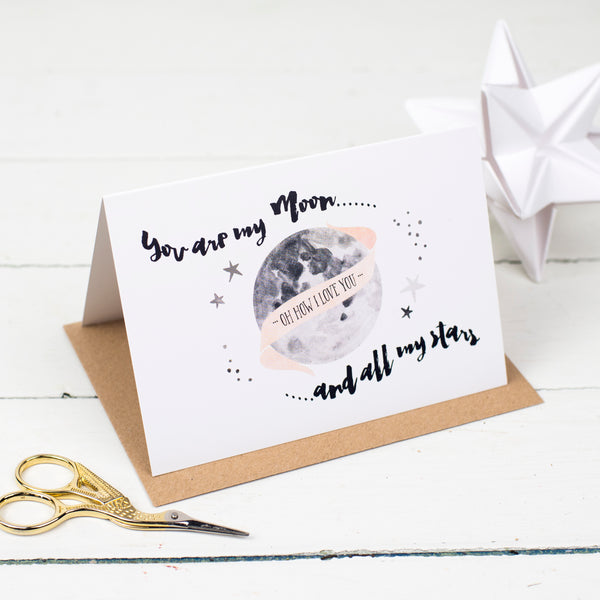 """You Are My Moon"" Card"