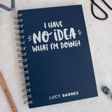 Personalised 'No Idea' Student Foil Notebook - Nina Thomas Studio