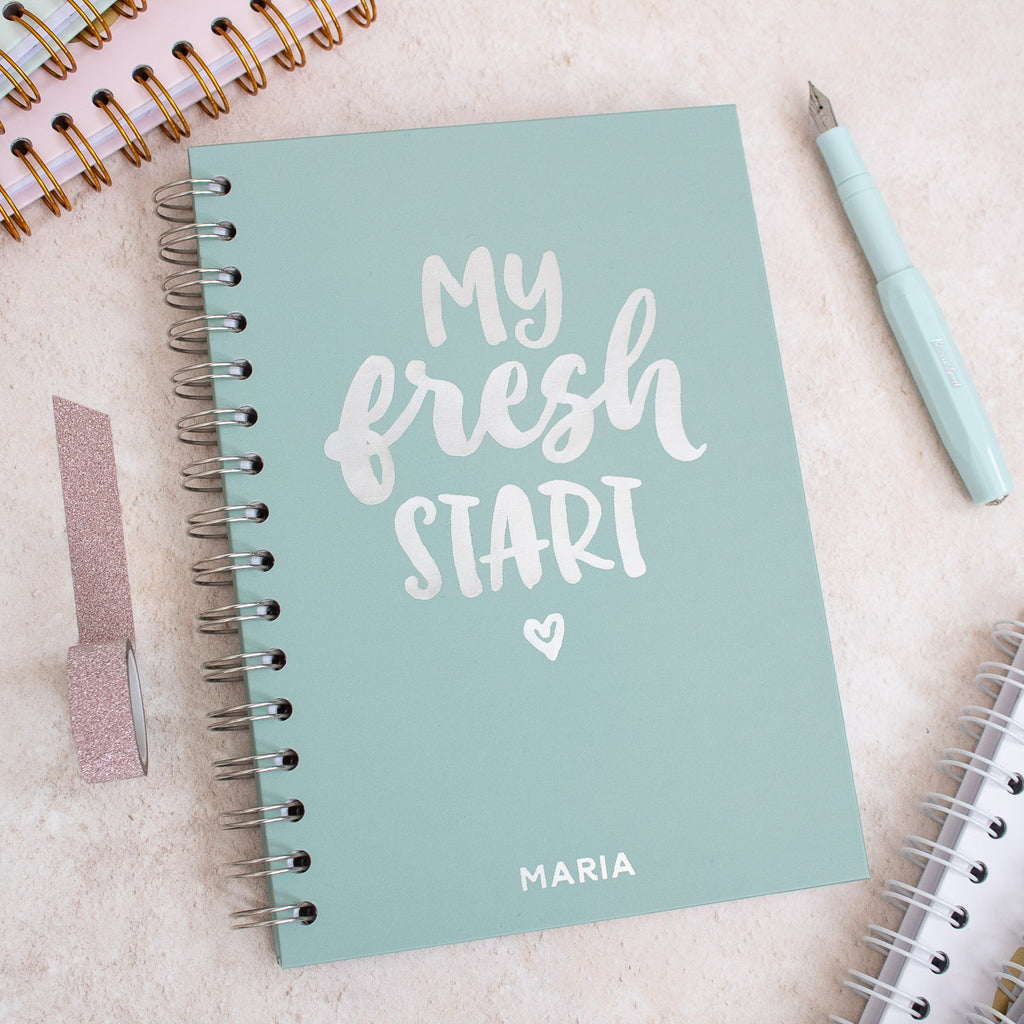 Personalised 'My Fresh Start' Foil Notebook