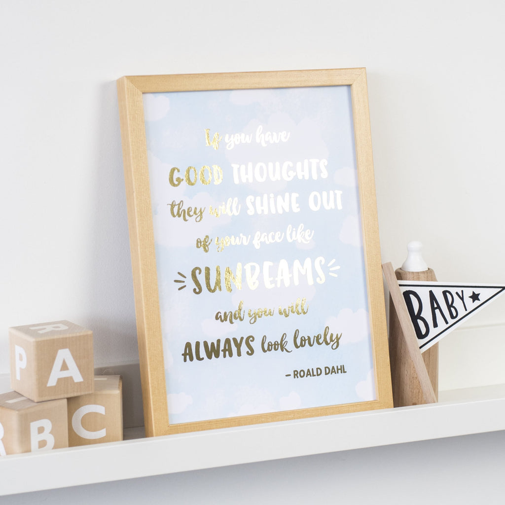 Gold Foil Print - Roald Dahl Quote - Nina Thomas Studio