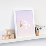 Gold Foil Print - Pink Ombré Isn't She Lovely - Nina Thomas Studio