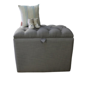 Ottoman- Romeo Storage Charcoal - Ottoman- Baby Belle