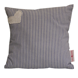 Scatter- Hearts Range Blue Stripe - Scatter Cushion- Baby Belle