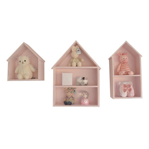 Isabella Houses Set of 3 - Wallshelf- Baby Belle