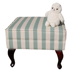 Ottoman - Oliver Mint Stripe - Ottoman- Baby Belle