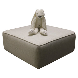 Footstool- Entree Grit - Ottoman- Baby Belle