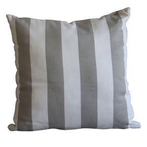 Scatter - Grey Stripe 30/30cm - Scatter Cushion- Baby Belle