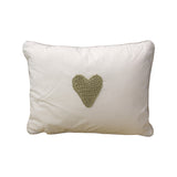 Scatter Stone Stripe hand crochet heart - Scatter Cushion - Baby Belle