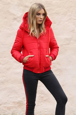 DAHLIA PUFFER / JACKET - RED (Pre-Order)