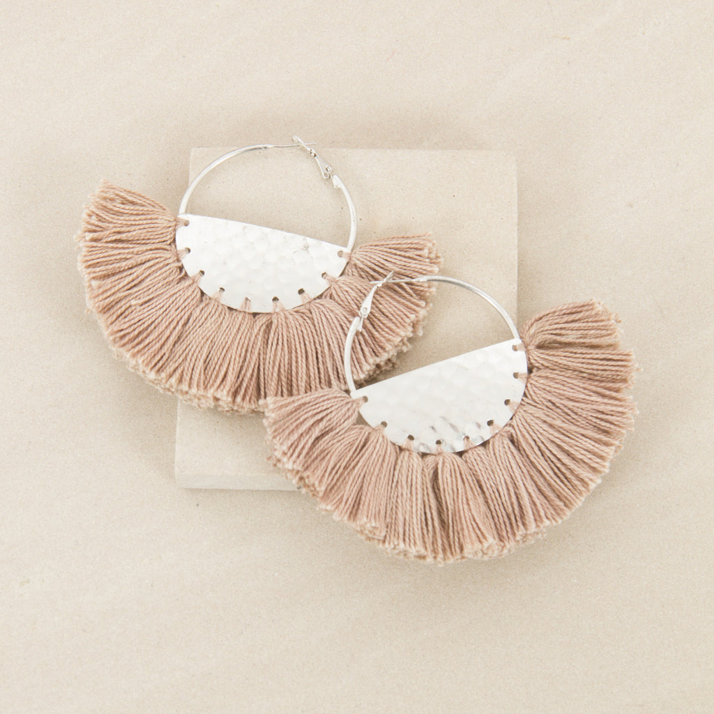 ELENA FRINGED / EARRINGS - Mocha