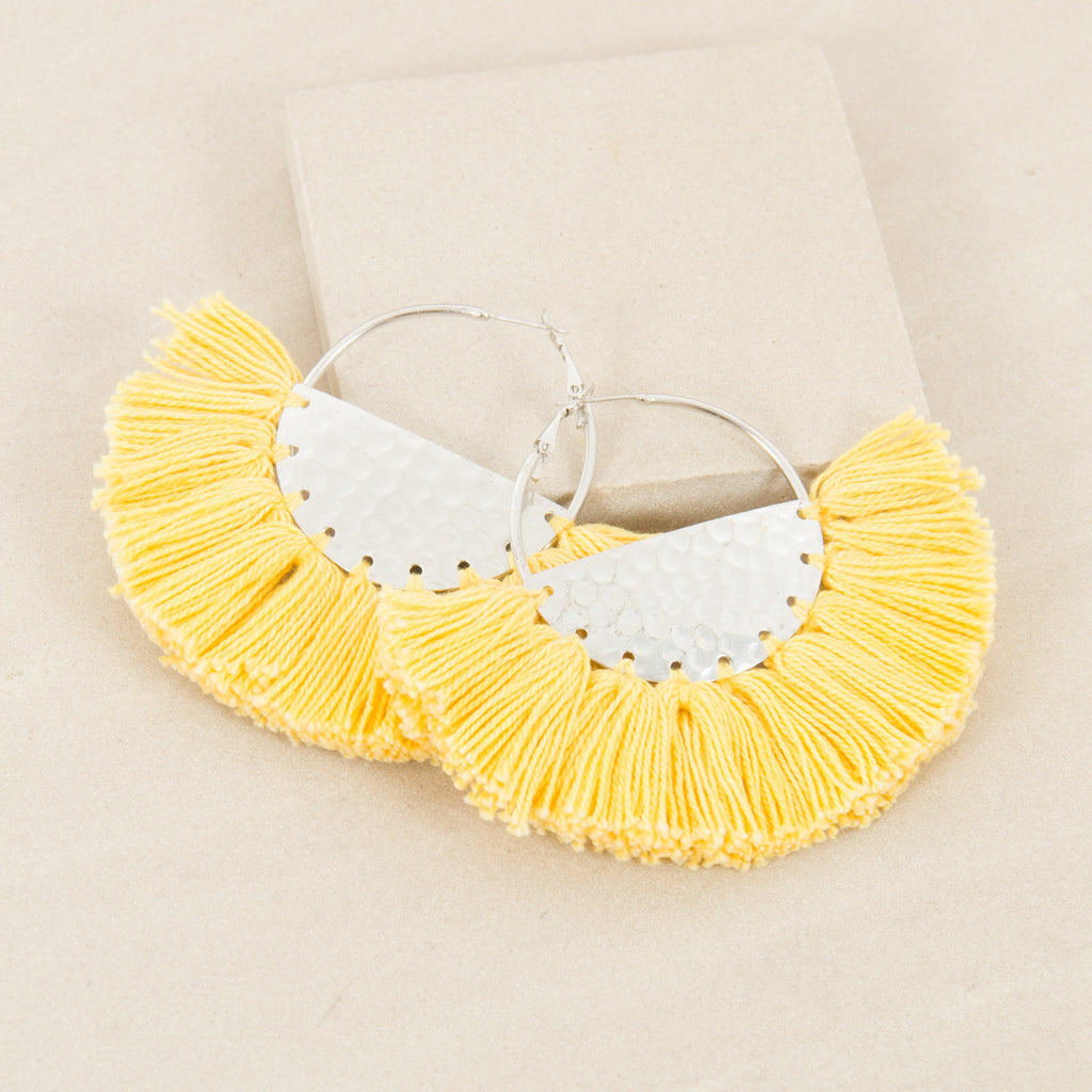 ELENA FRINGED / EARRINGS - Yellow