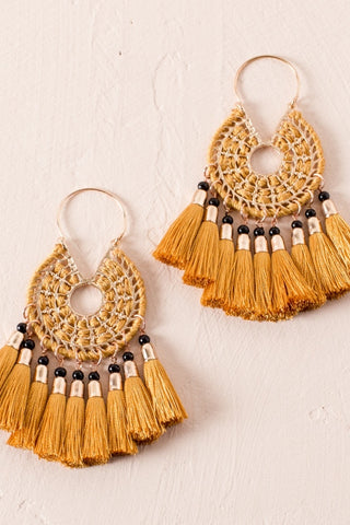 PIP TASSEL / EARRINGS