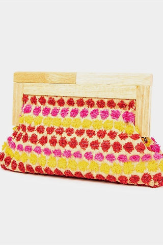 RAFFIA TIMBER FRAME / CLUTCH