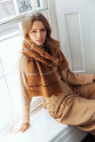 ELKA STRIPE / SCARF - BROWN
