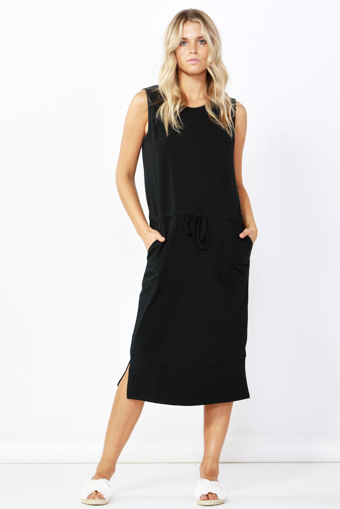 JENNIFER MIDI / DRESS - BLACK
