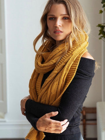 ENID CABLE KNIT / SCARF