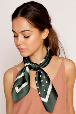 POLKA DOT / SCARF - GREEN