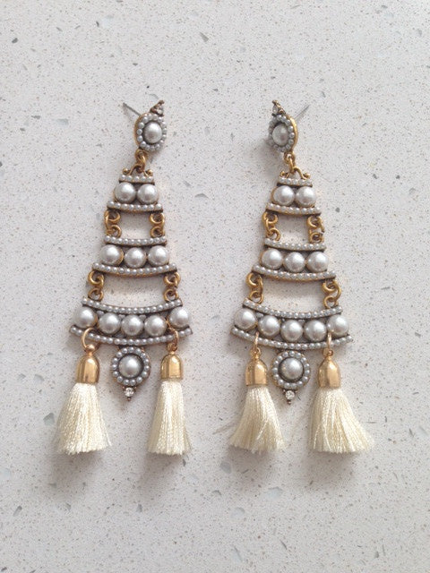 ISABELLE / EARRINGS - Cream