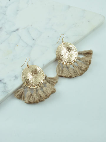 BILLINI TASSEL / EARRINGS - MOCHA