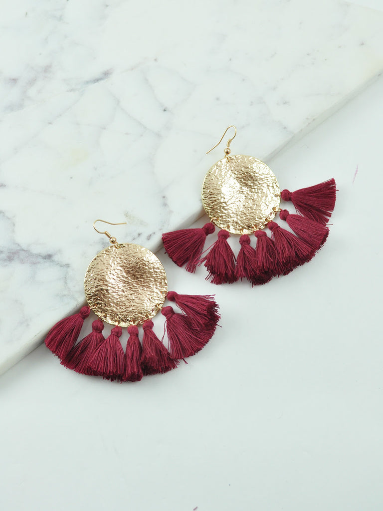BILLINI TASSEL / EARRINGS - Wine