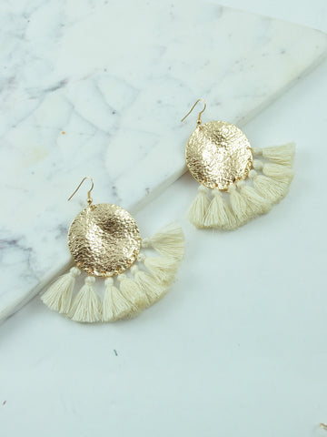 BILLINI TASSEL / EARRINGS - IVORY