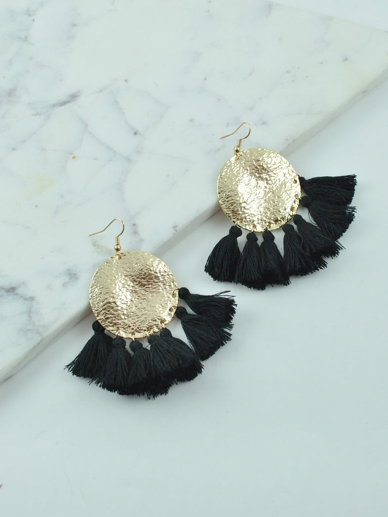 BILLINI TASSEL / EARRINGS - BLACK