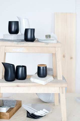 bybibi porcelain tableware in black and white