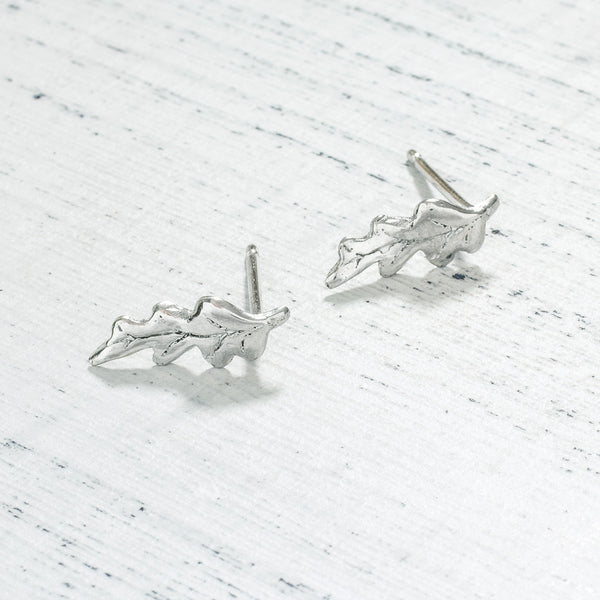 Oak Leaf Stud Earrings