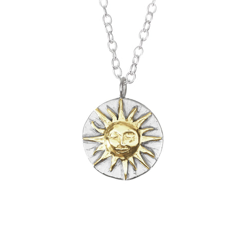 Sun Disc Gold Necklace