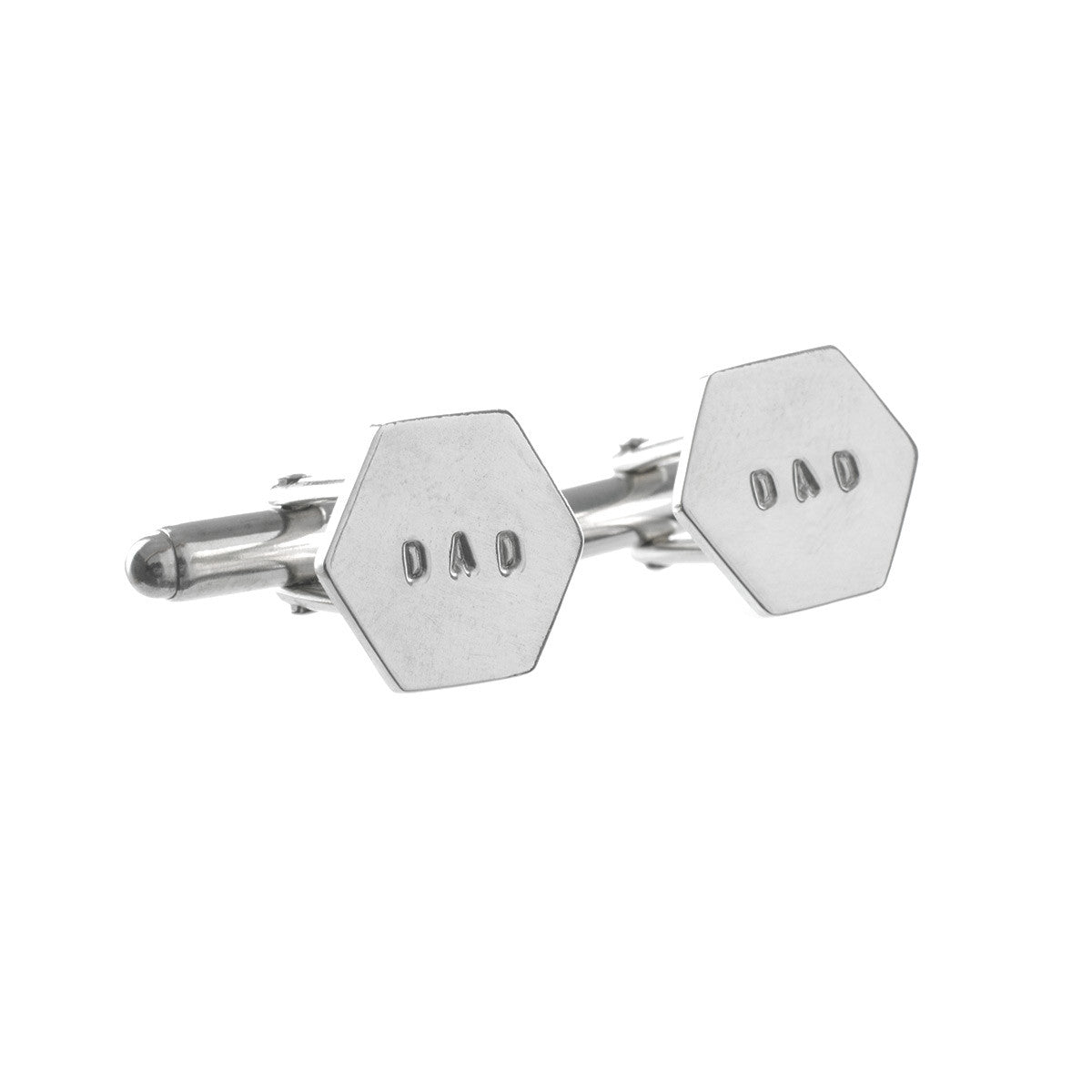 Hexagon Personalised Cufflinks