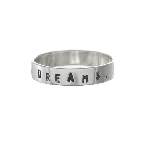 Sterling Silver Hand Stamped Ring