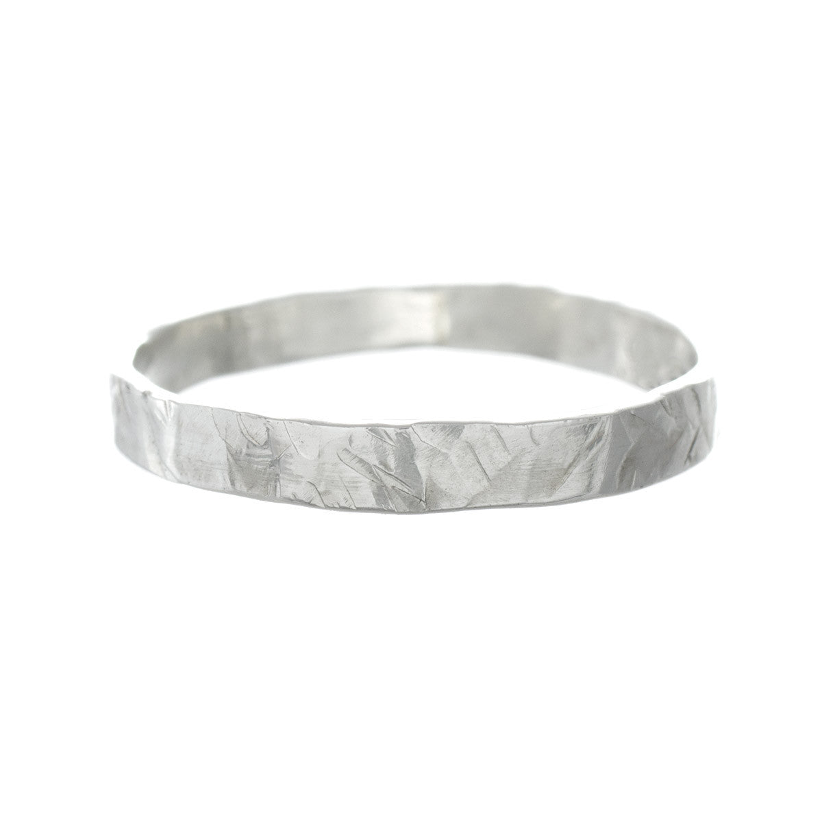 Skinny Hammered Stacking Ring