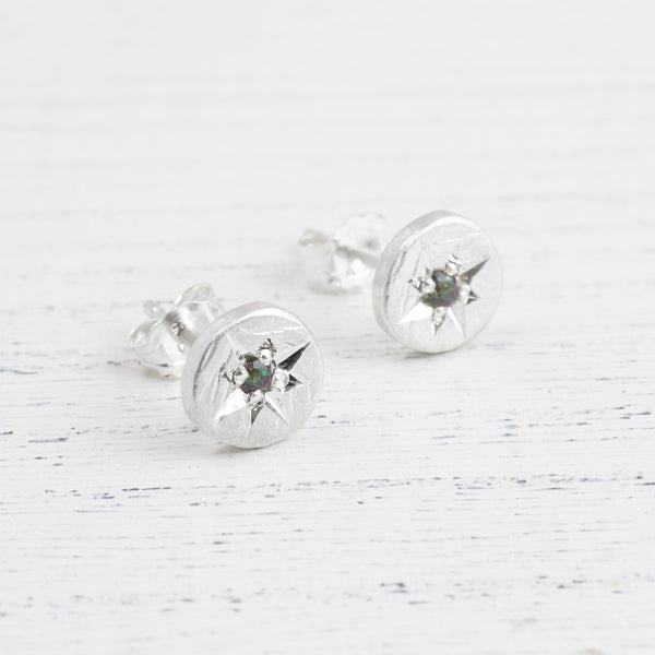 Topaz Star Set Earrings
