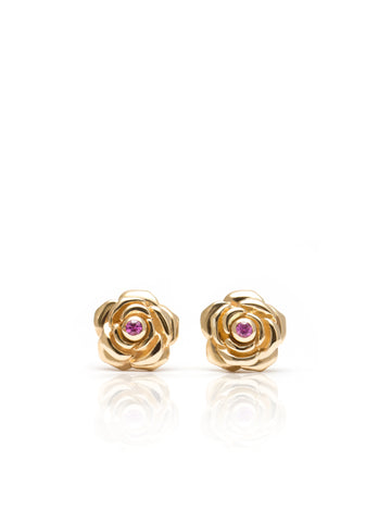 Fine Mini Dali Rose Stud Earrings