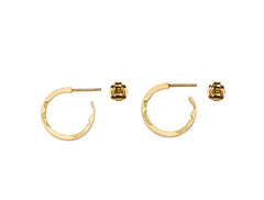 Mustard and Peaches Coastal Hoop Earrings