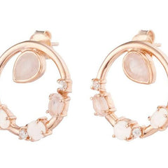 anna circular earrings rose gold
